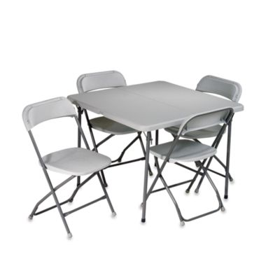 Fold Out Tables with Chairs
