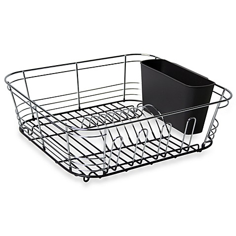 Omni Small Chrome Dipped Dish Drainer in Grey