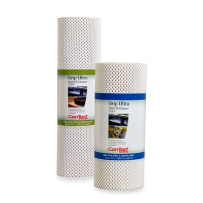 Con-Tact® Grip 12-Inch x 15-Foot Ultra Shelf Liner in White