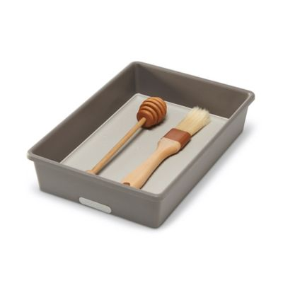 6-Inch x 9-Inch Drawer Organizer in Grey