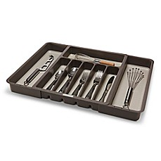 madesmart Expandable Cutlery Tray in Grey