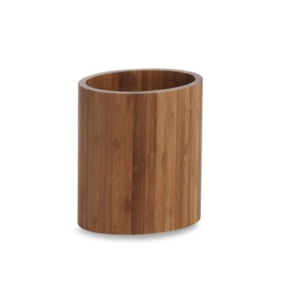 Bamboo Oval Utensil Holder