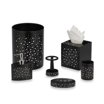 Diamond Boutique Tissue Holder in Black