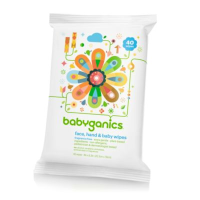Babyganics® 40-Count Fragrance-Free Face, Hand & Baby Wipes