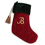 Initial Christmas Stocking made with CRYSTALLIZED™ - Swarovski Elements - B