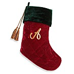 Initial Christmas Stocking made with CRYSTALLIZED™ - Swarovski Elements - A