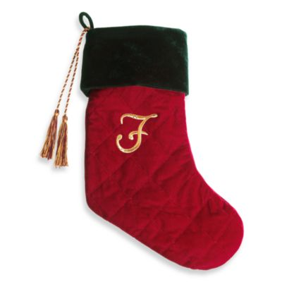 Initial Christmas Stocking made with CRYSTALLIZED™ - Swarovski Elements - F