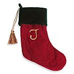 Initial Christmas Stocking made with CRYSTALLIZED™ - Swarovski Elements - J