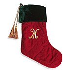 Initial Christmas Stocking made with CRYSTALLIZED™ - Swarovski Elements - M