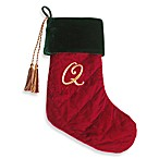 Initial Christmas Stocking made with CRYSTALLIZED™ - Swarovski Elements - Q