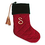 Initial Christmas Stocking made with CRYSTALLIZED™ - Swarovski Elements - S