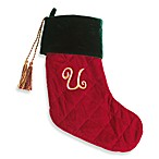 Initial Christmas Stocking made with CRYSTALLIZED™ - Swarovski Elements - U