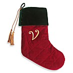 Initial Christmas Stocking made with CRYSTALLIZED™ - Swarovski Elements - V