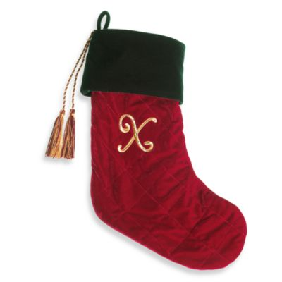 Initial Christmas Stocking made with CRYSTALLIZED™ - Swarovski Elements - X