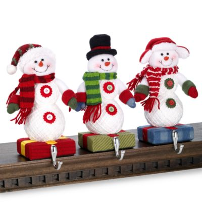 Snowmen Stocking Hangers (Set of 3)