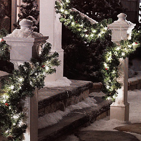 6-Foot Pre-Lit Garland (Set of 2)