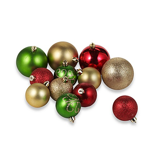 Unbreakable Assorted Traditional Colored Ornaments (Package of 40)