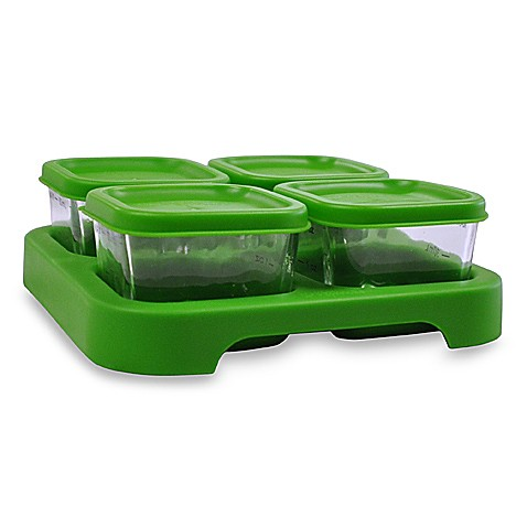 green sprouts™ by i play.® Glass Freezer Cubes (Set of 4)