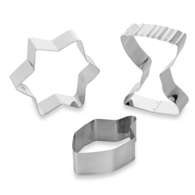 Hanukkah 3-Piece Cookie Cutter Set