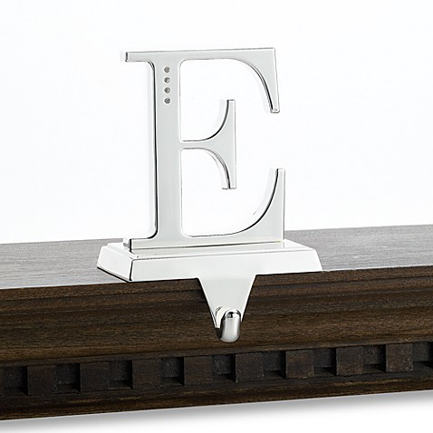 Monogram Stocking Hanger With Crystallized™ Swarovski Elements, Letter E
