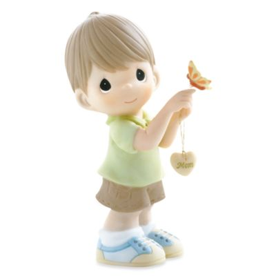 Precious Moments® Butterfly Kisses with Love Filled Wishes Boy Porcelain Figurine