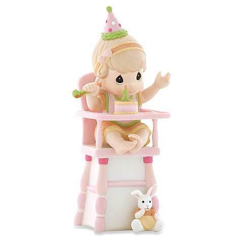 Precious Moments® Hip, Hip, Hooray You're One Year Old Today! Porcelain Girl Figurine