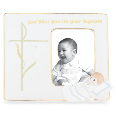 Precious Moments® God Bless You on Your Baptism 3 1/2-Inch x 5-Inch Porcelain Frame in Boy