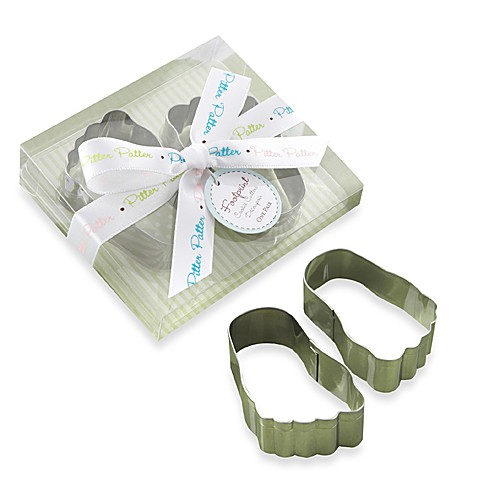 Kate Aspen® Pitter Patter Baby Footprint Cookie Cutter Baby Shower Favors