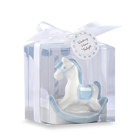 kate aspen blue rocking horse tealight baby shower favor bed bath