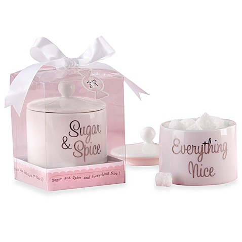 Kate Aspen® Sugar, Spice and Everything Nice Ceramic Sugar Bowl with Lid Baby Shower Favor