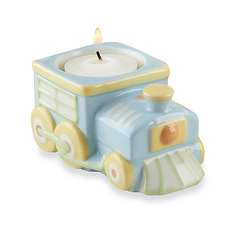 Precious Cargo Train Tea Light Holder Baby Shower Favor by Kate Aspen