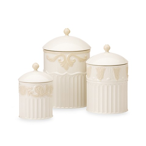 Lenoxr butler39s pantryr 3 piece canister set bed bath for Lenox butlers pantry canisters