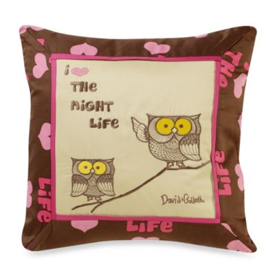 David and Goliath™ Night Life18-Inch Square Throw Pillow