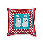 Pillow Talk 18-Inch Square Decorative Toss Pillow