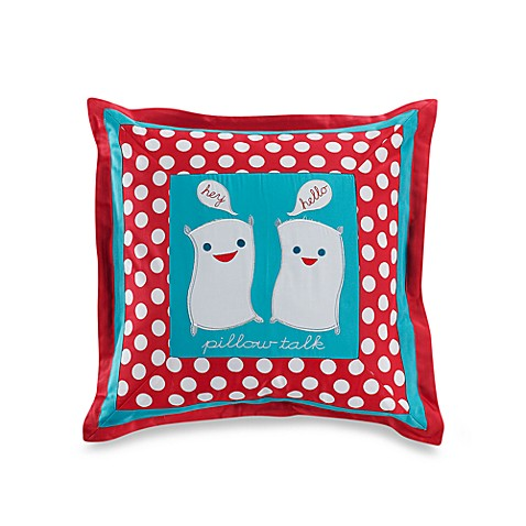 Pillow Talk 18-Inch Square Decorative Throw Pillow