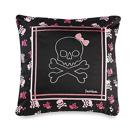 Skully 18-Inch Square Decorative Toss Pillow