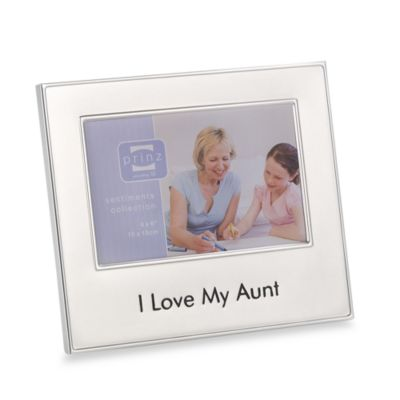 I Love My Aunt 4-Inch x 6-Inch Metal Frame