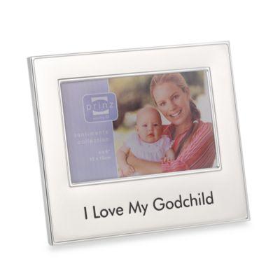 I Love My Godchild 4-Inch x 6-Inch Metal Frame
