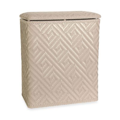 Athena Upright Hamper in Linen