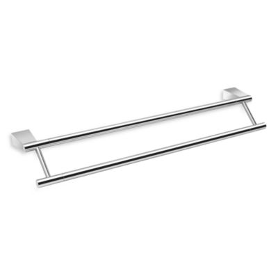 Gatco Bleu Chrome 24-Inch Double Towelbar