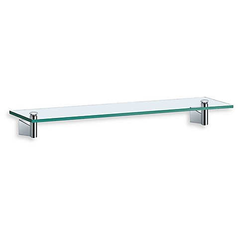 Gatco Bleu Chrome 21 1/4-Inch Glass Shelf