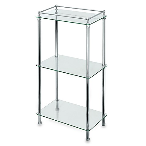 Taboret Chrome And Glass Shelf Tower Bed Bath Amp Beyond