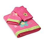 Dancing Flowers Bath Towels, 100% Cotton