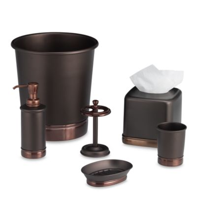 InterDesign® York Metal Waste Basket in Oil Rubbed Bronze
