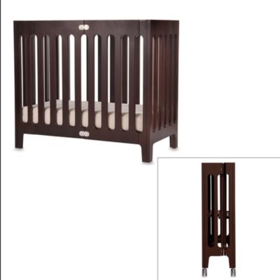 bloom® baby alma™ Urban Folding Cot/Mini Crib in Cappuccino