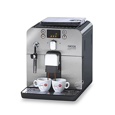gaggia brera 59101 automatic espresso machine black bed bath beyond. Black Bedroom Furniture Sets. Home Design Ideas
