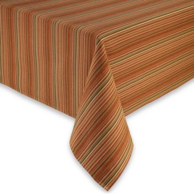 Sam Hedaya Autumn Stripe 70-Inch Round Tablecloth