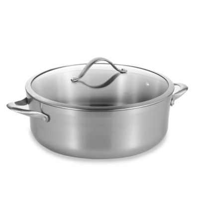 Calphalon® Contemporary Stainless Steel 8-Quart Dutch Oven