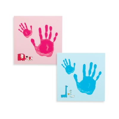 Pearhead™ Baby and Me Handprint Wall Canvas Set