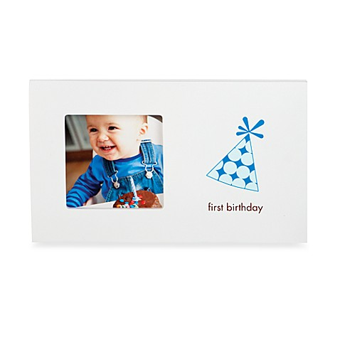 Pearhead™ First Birthday Frame in Blue